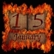 Burning wooden calendar January 15. - PhotoDune Item for Sale