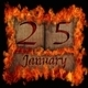 Burning wooden calendar January 25. - PhotoDune Item for Sale