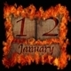 Burning wooden calendar January 12. - PhotoDune Item for Sale