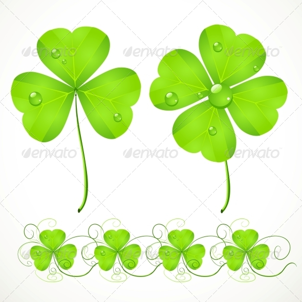GraphicRiver St Patrick s Day Green Clover 6465068
