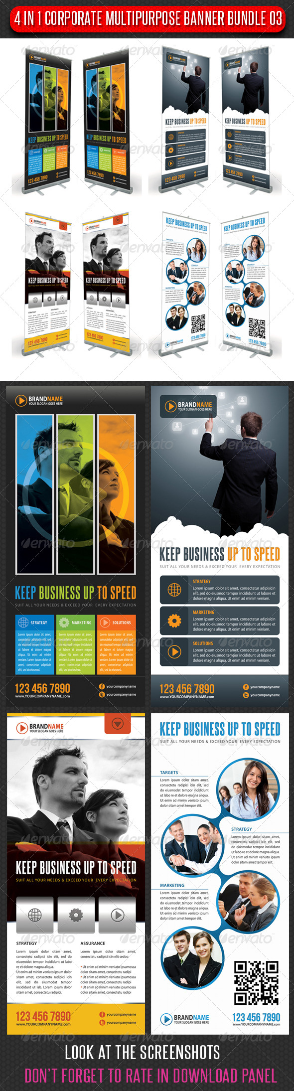 GraphicRiver 4 in 1 Corporate Multipurpose Banner Bundle 03 6465089