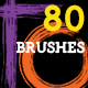Paint & Pencil Strokes : 80 Artistic Brushes - GraphicRiver Item for Sale