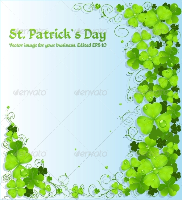 GraphicRiver St Patrick s Day Green Clover Background 6465755