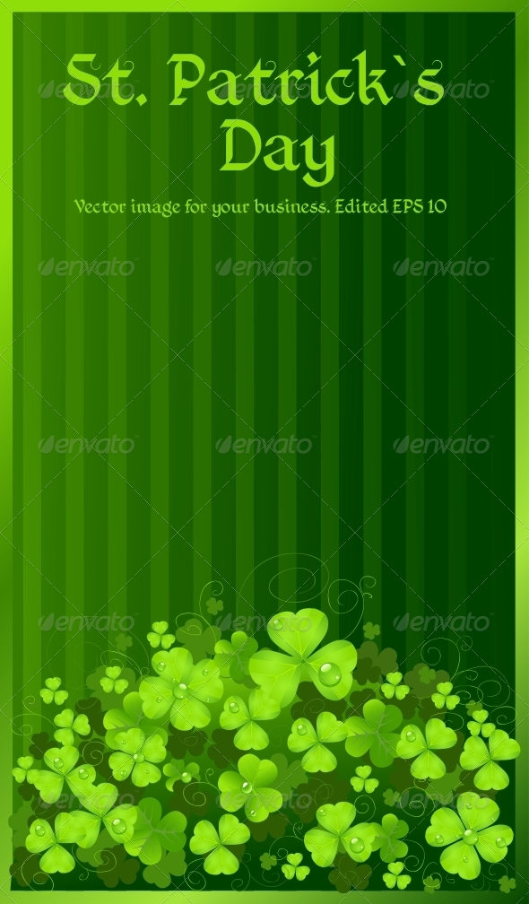 GraphicRiver St Patrick s Day Green Clover Background 6465763