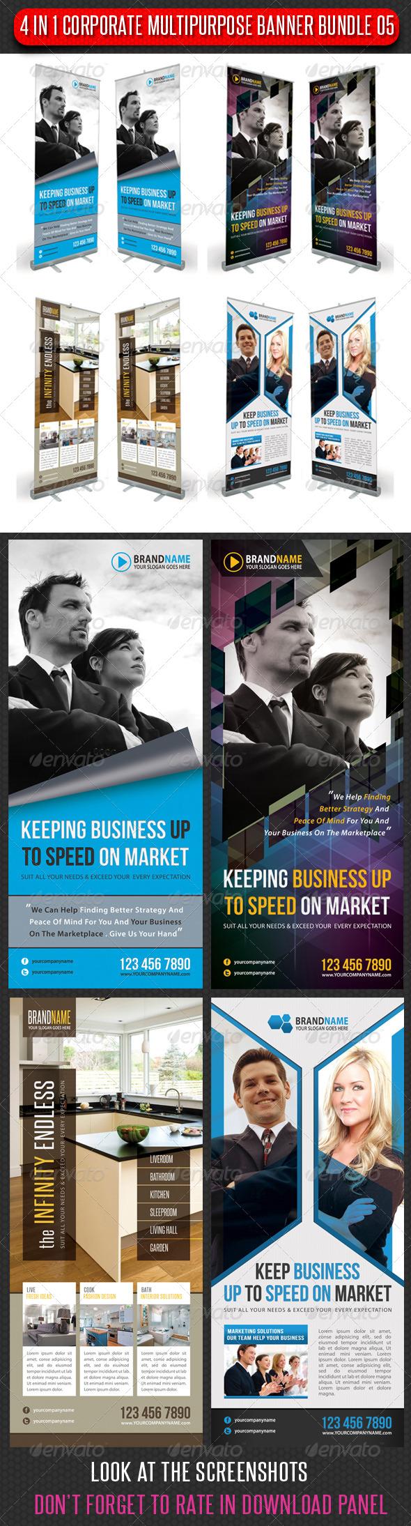 GraphicRiver 4 in 1 Corporate Multipurpose Banner Bundle 05 6465836