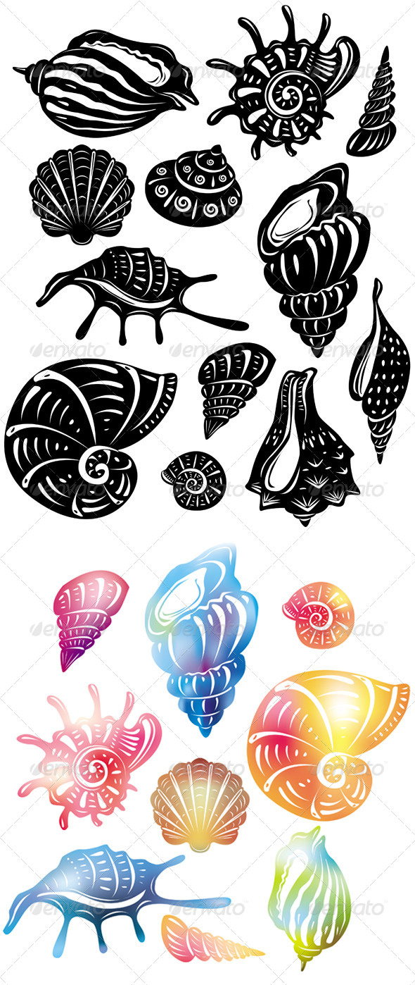 GraphicRiver Set of Decorative Shell 6466085