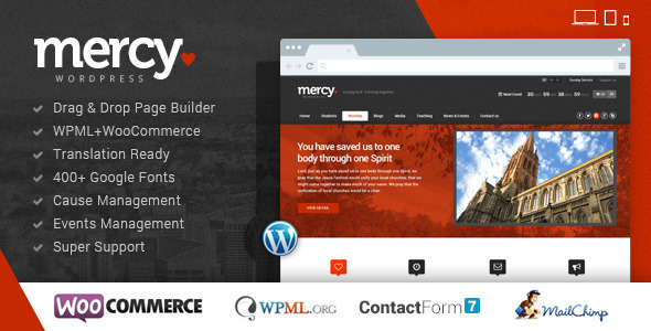 ThemeForest Mercy-NGO Charity & Environmental Political theme 6466107