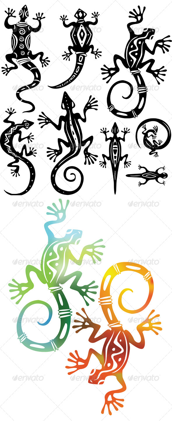 GraphicRiver Decorative Lizards 6466131