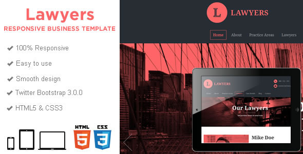 preview.  large preview Lawyers   Responsive Business HTML5 Template (Business)