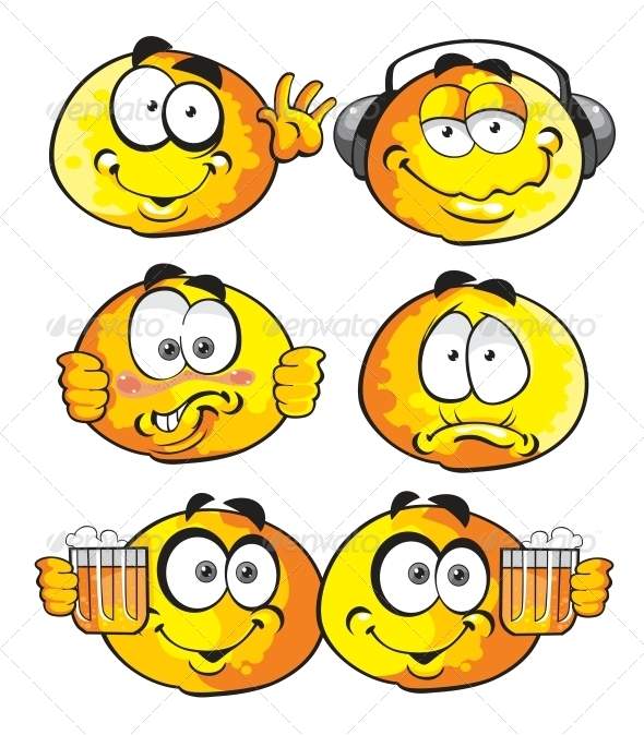 GraphicRiver Friends Smiles Set 6466359