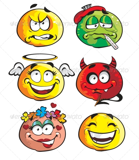 GraphicRiver Set of Smileys 6466412