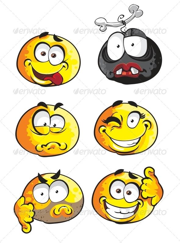 GraphicRiver Set of Emoticon Smiles 6466435