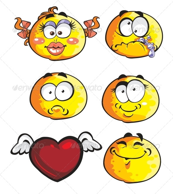 GraphicRiver Set of Emoticon Smiles 6466436