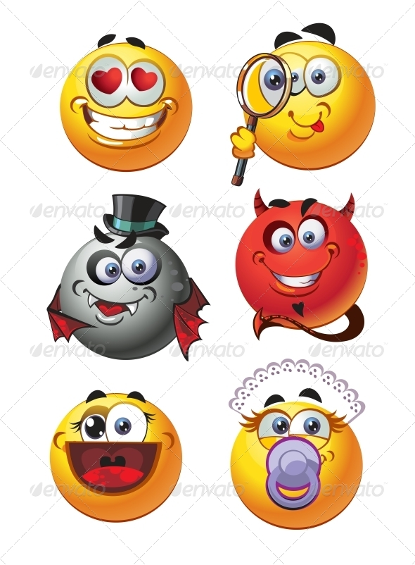 GraphicRiver Set of Emoticon Smiles 6466438
