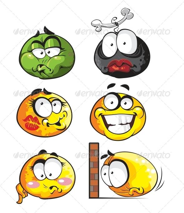 GraphicRiver Set of Emoticon Smiles 6466442