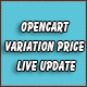 Opencart Variation Price Live Update