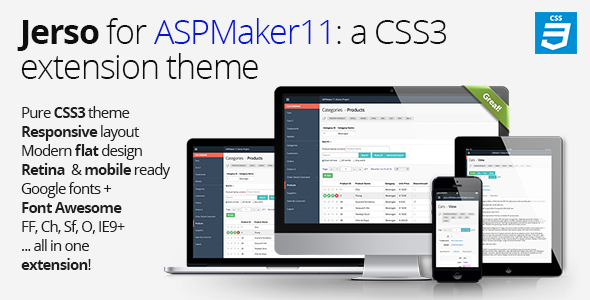 CodeCanyon Jerso a CSS3 extension theme for ASPMaker 11 6466485