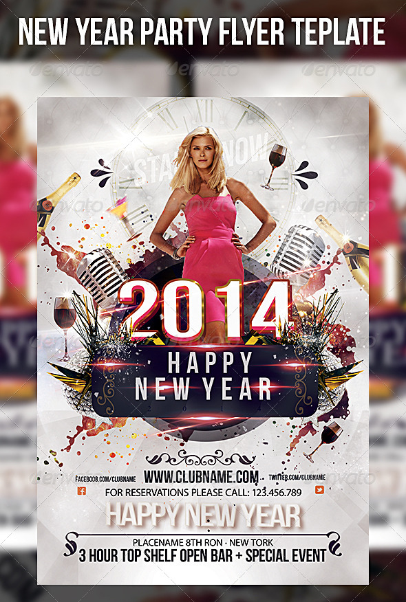 GraphicRiver New Year Madness Party Flyer Template 6432994