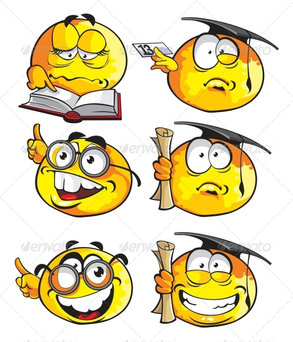 GraphicRiver Set of Emoticon Smiles 6466538