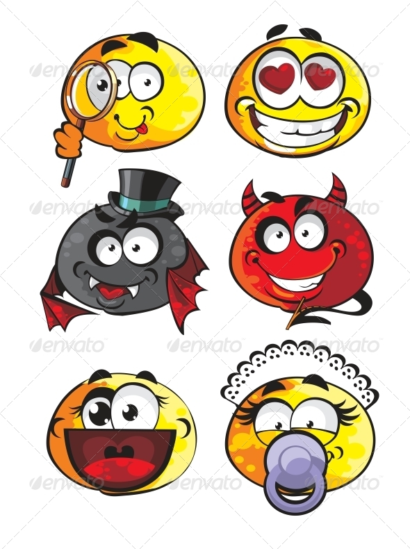 GraphicRiver Set of Emoticon Smiles 6466540