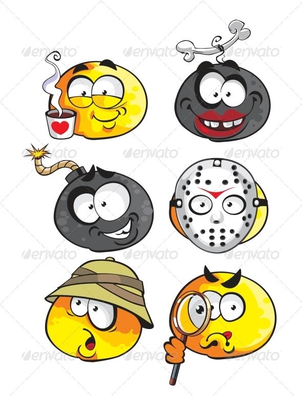 GraphicRiver Set of Emoticon Smiles 6466542