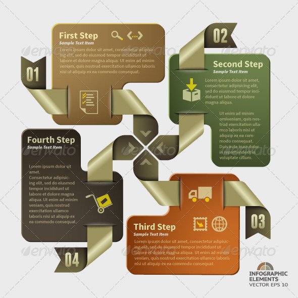 Abstract Infographic Design - 4 Steps