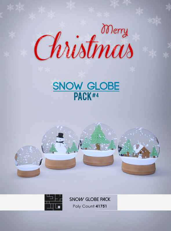 3DOcean Snow Globe 3D Models Pack 6466614