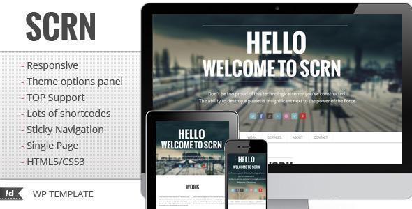 Theme de WordPress De una Sóla Página SCRN