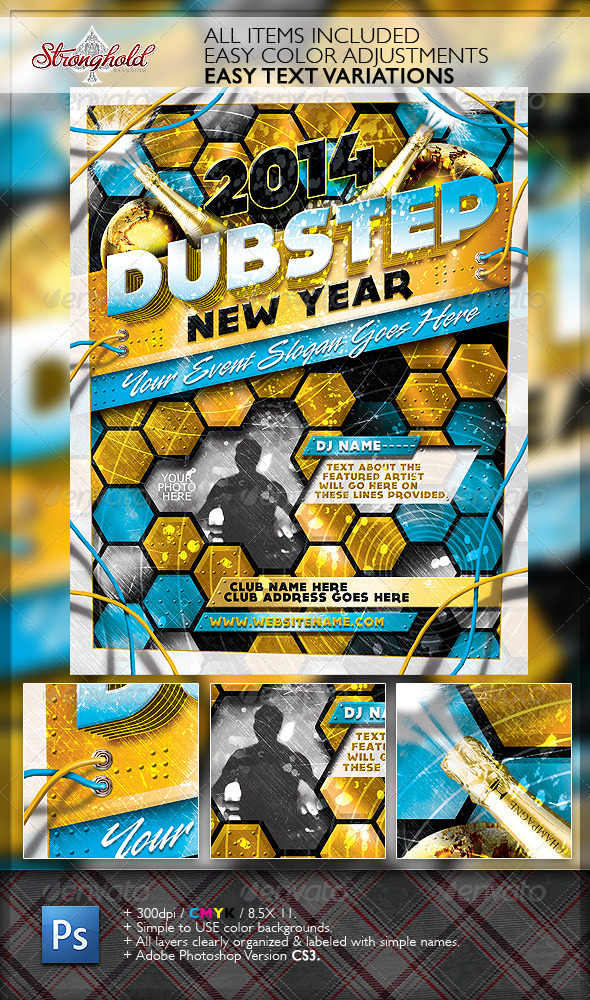 GraphicRiver Happy New Year s Eve Dubstep Edition Flyer 6434530