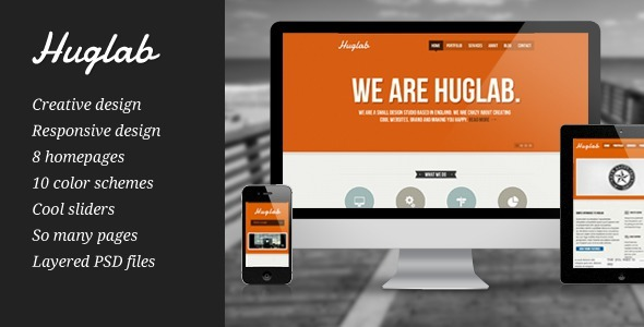 Huglab - Responsive Multi-Purpose Business Site
