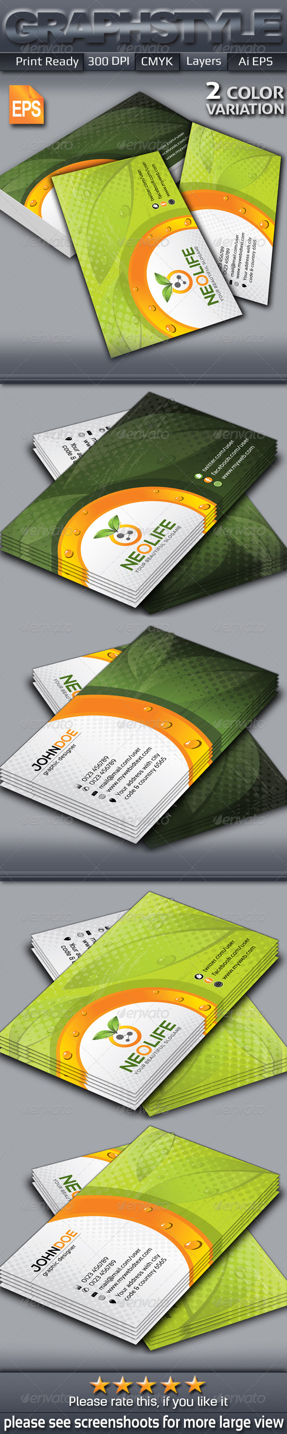 GraphicRiver Neolife Creative Business Card 6429427