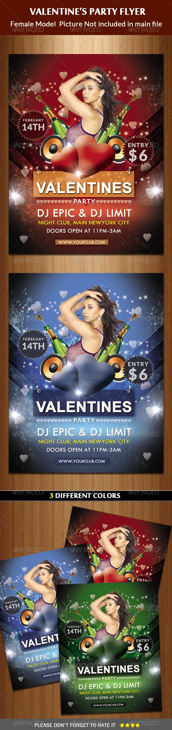 GraphicRiver Valentine Party Flyer 6436585