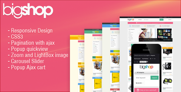 ThemeForest Responsive HTML Theme HTML BigShop 6461419
