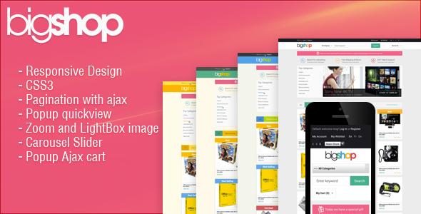 Responsive HTML Theme - HTML BigShop