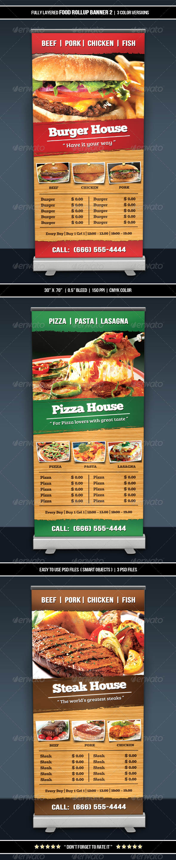 GraphicRiver Food Roll-up Banner 2 6467593