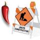 Under Construction Barricade