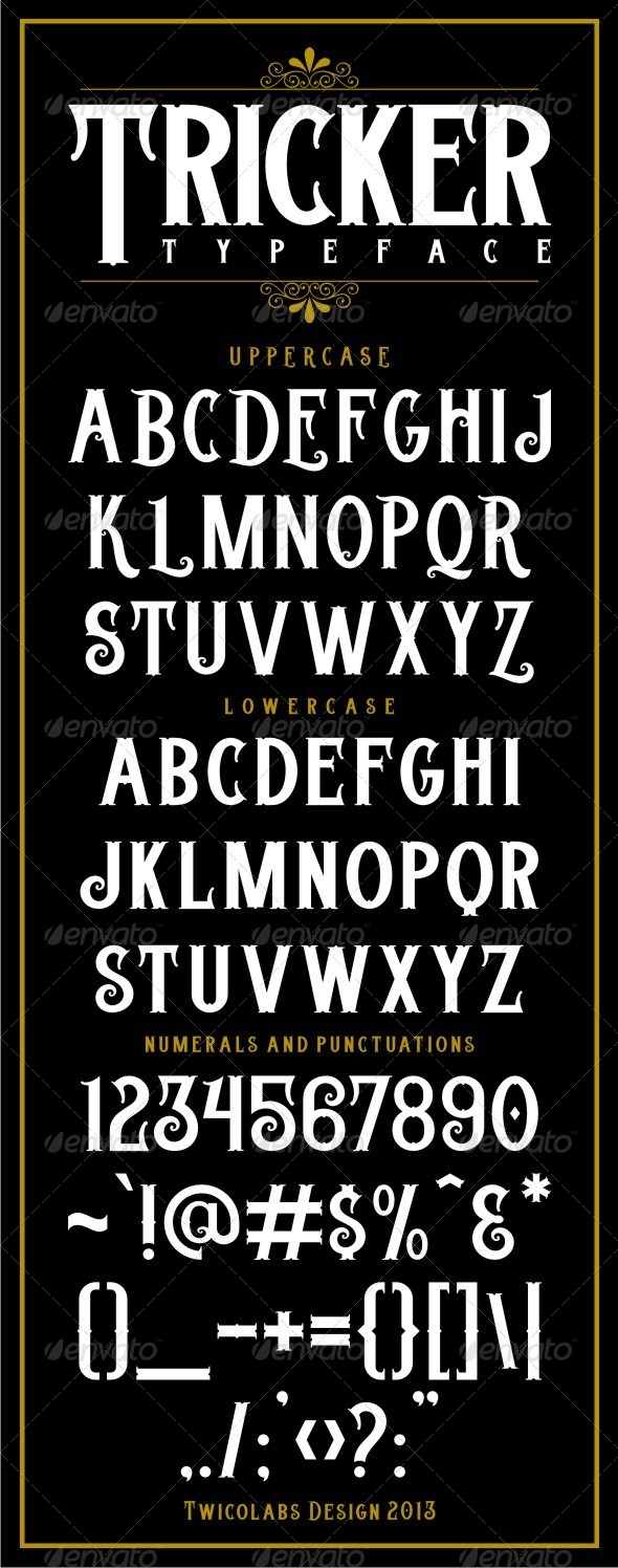 GraphicRiver Tricker Typeface 6467777