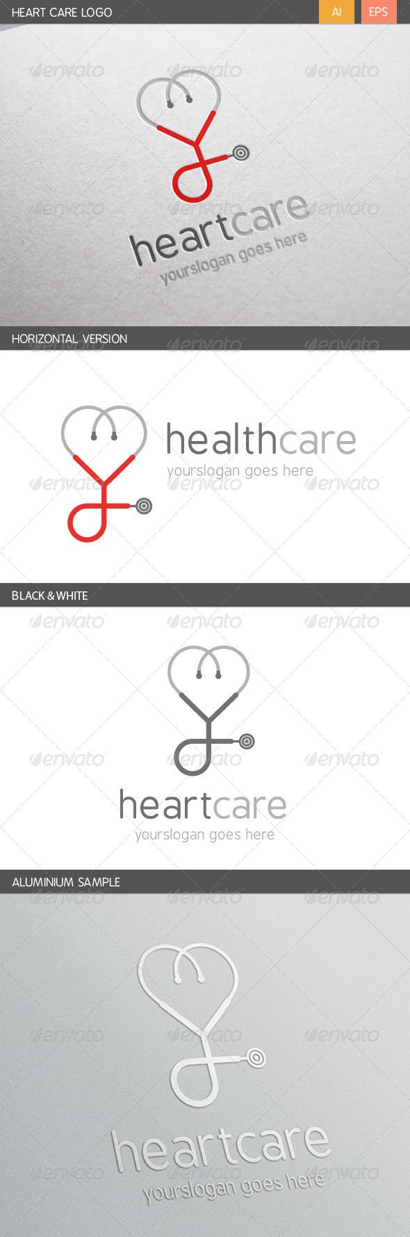GraphicRiver Heart Care Logo 6467817