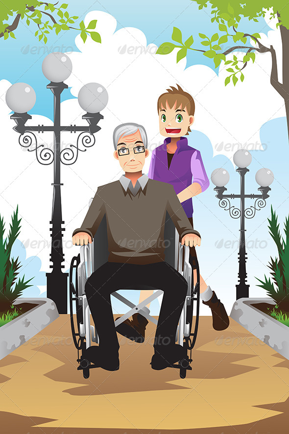 GraphicRiver Grandson and Grandfather 6467859