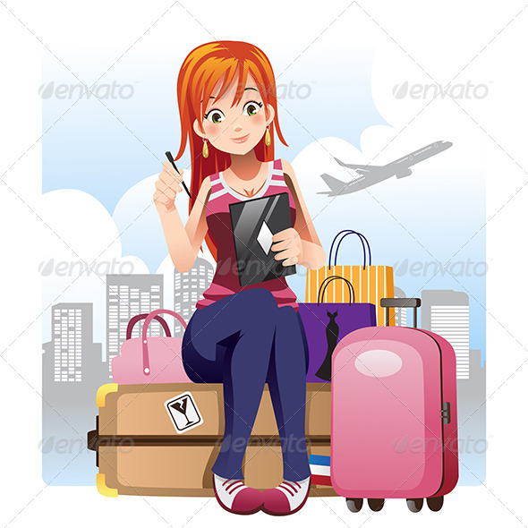 GraphicRiver Traveling Girl 6467860