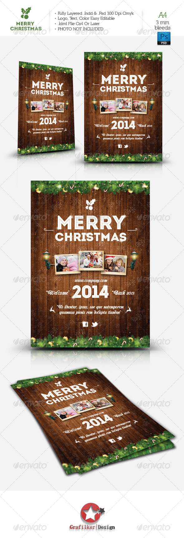 GraphicRiver Christmas Flyer Template 6435425