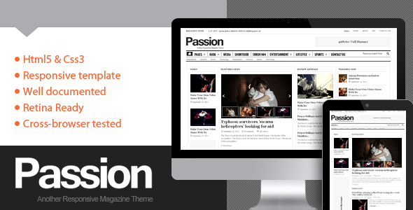 ThemeForest Passion- Magazine HTML5 Template 6467868