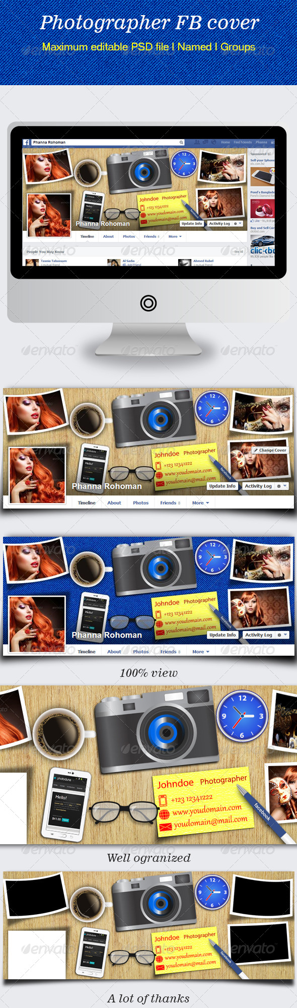 GraphicRiver Photographer FB Cover 6467870