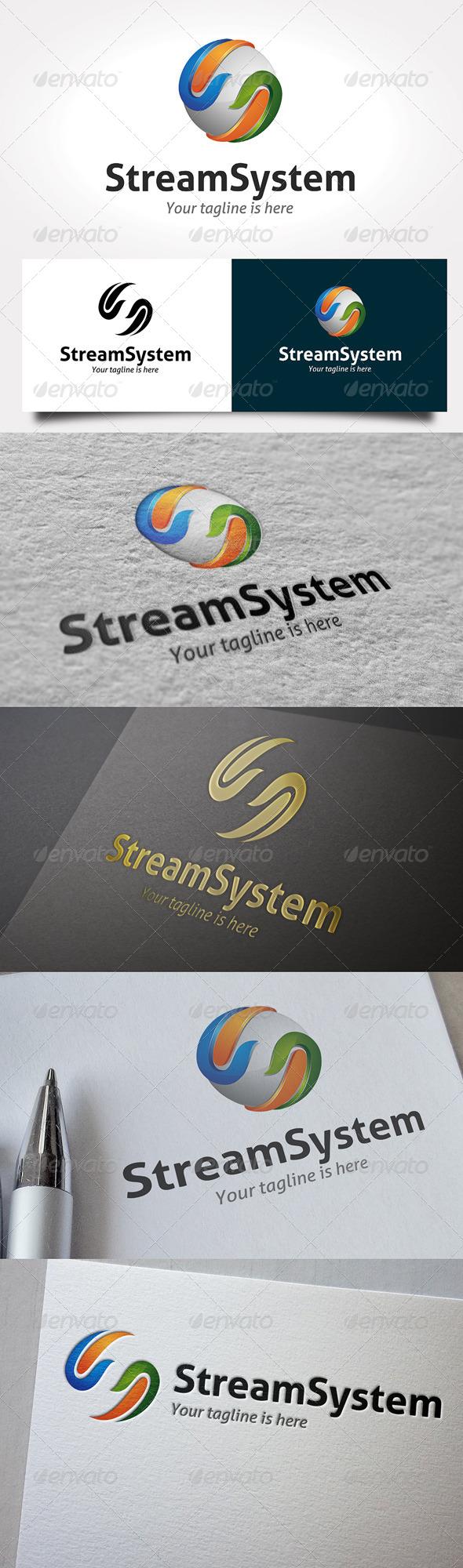 GraphicRiver Stream System Logo 6467935
