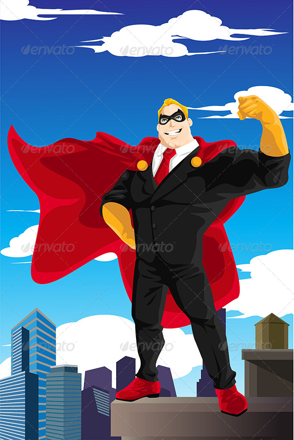 GraphicRiver Superhero Businessman 6468062