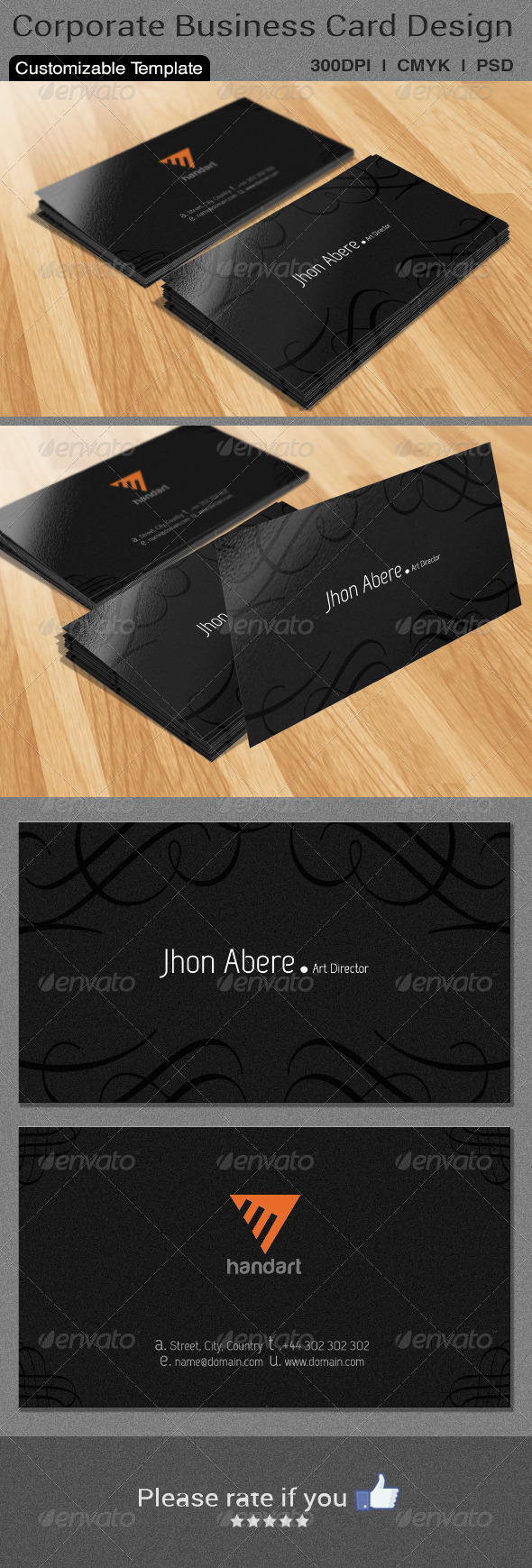 GraphicRiver Classic Business Card Design 6468066