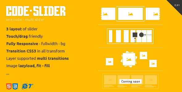 CodeSlider Touch Responsive Multi Slider