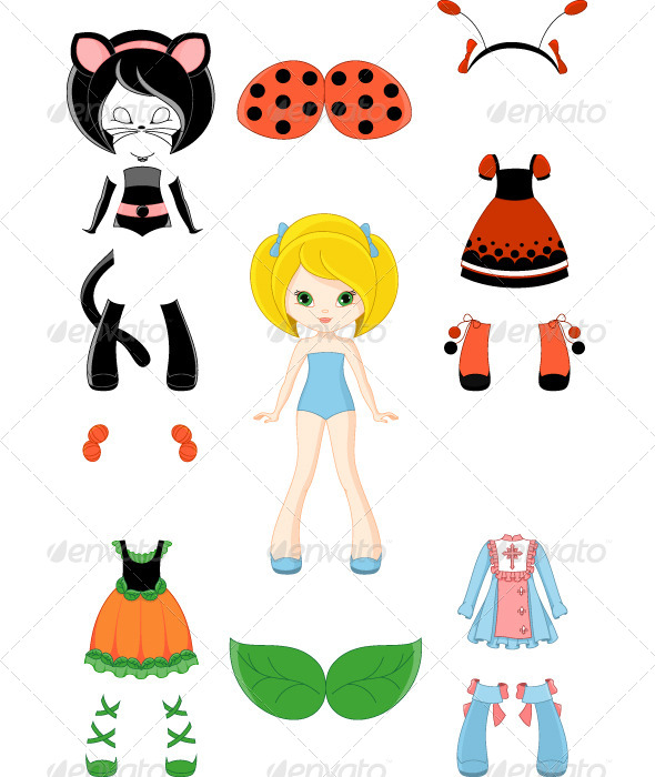 GraphicRiver Paper Doll with Clothing 6468166
