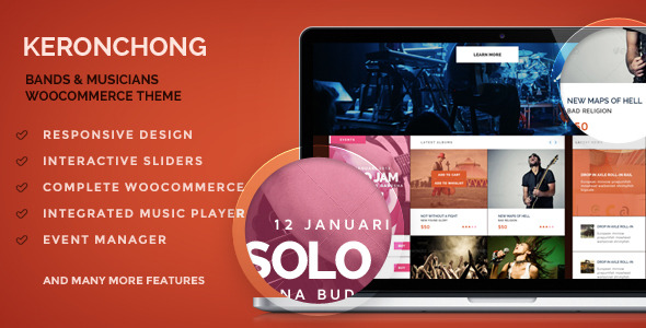 Keronchong – Band, Music & Event WooCommerce Theme