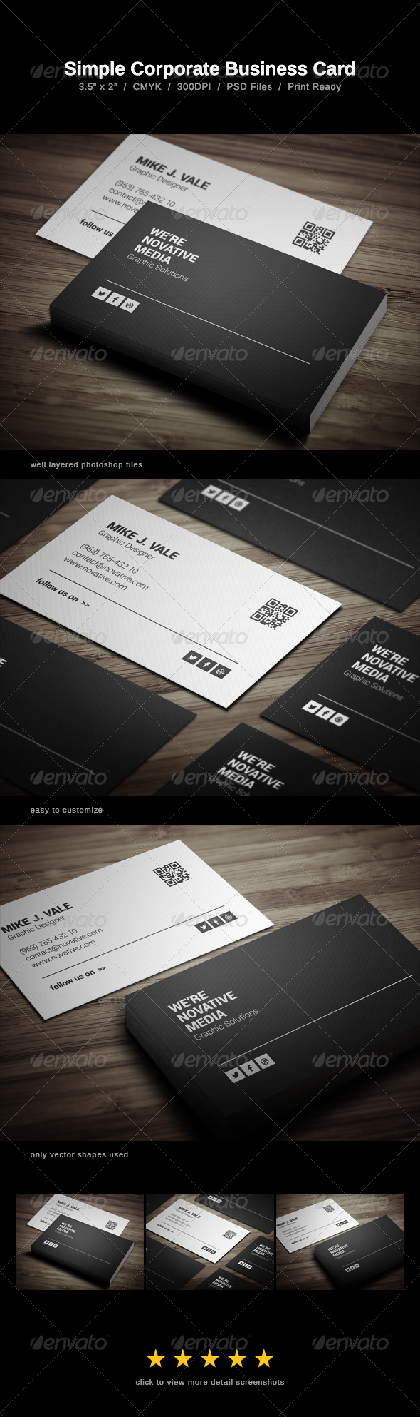 GraphicRiver Simple Corporate Business Card 6468648